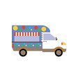 fast food street van icon vector image