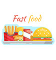 fast food vegetable flat design vector image