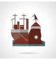 Flat color icon for wharf vector image vector image