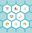 flat icons paper tactics profit and other vector image vector image
