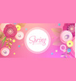 flower paper cut spring design template vector image
