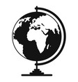 geography icon simple style vector image vector image