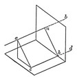 geometrical perspective visualized by the human vector image vector image