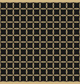 gold and black ornamental grid seamless pattern vector image