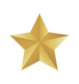 gold colored star shape medal award winning 3d vector image vector image