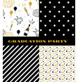 graduation pattern collection black and golden vector image vector image