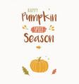happy pumpkin spice season design template vector image vector image