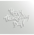 Happy Thanksgiving Day 3d Calligraphic Text with vector image