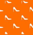 high heel shoe pattern seamless vector image vector image