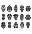 idol mask monochrome black hawaii tiki tahitian vector image