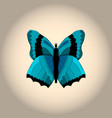 image of a blue butterfly-demon vector image