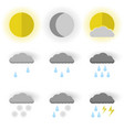image of set of weather icons sun moon and sun vector image vector image