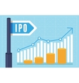 ipo initial public offering concept vector image vector image
