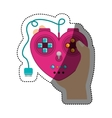 Isolated gamepad of videogame design vector image vector image