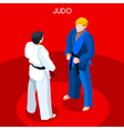 Judo 2016 Summer Games 3D Isometric vector image