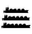 lng carrier vector image vector image