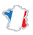 map of france with its flag vector image vector image