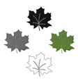maple leaf icon in cartoonblack style for vector image