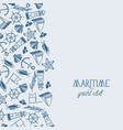 maritime yacht club poster vector image vector image