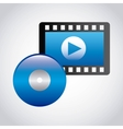 media player design vector image vector image