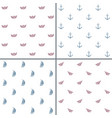 minimalist seamless patterns set vector image
