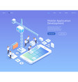 mobile application development isometric vector image vector image
