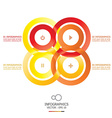 Modern Infinity Circle Template vector image vector image