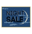 Night sale and discount cartoon banner vector image