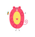 number zero cute cartoon character isolated on vector image