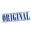 original blue grunge vintage stamp isolated on vector image vector image