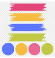 paint banner set isolated transparent background vector image vector image