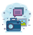 photo camera network multimedia web app icons vector image vector image