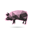 Pig abstract isolated vector image vector image