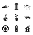 Purity of nature icons set simple style vector image