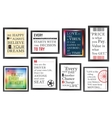 Quotes motivation frames set vector image