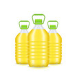realistic detailed 3d vegetable oil plastic bottle vector image vector image