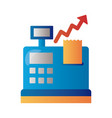 register machine with price hike arrow up vector image vector image