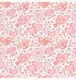 romance seamless pattern love wedding flat line vector image