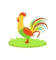 Rooster Farm Bird Cartoon Farm Related Element On vector image vector image