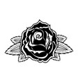 rose in tattoo style design element for oster vector image