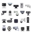 security camera cctv control safety video vector image