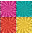 set colorful abstract triangle backgrounds vector image vector image