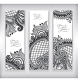 set grey decorative flower template banner vector image