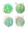 Set of watercolor splashes on white vector image