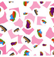 shoes flat color background seamless pattern vector image