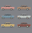 Side View Of Sedan Cars vector image vector image