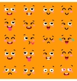Square emoticon emoji set of colorful emoticons