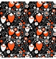 Strawberry fields in Russian Folk Style vector image vector image
