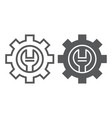 technical support line and glyph icon maintenance vector image vector image