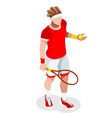 Tennis 2016 Sports 3D Isometric vector image vector image
